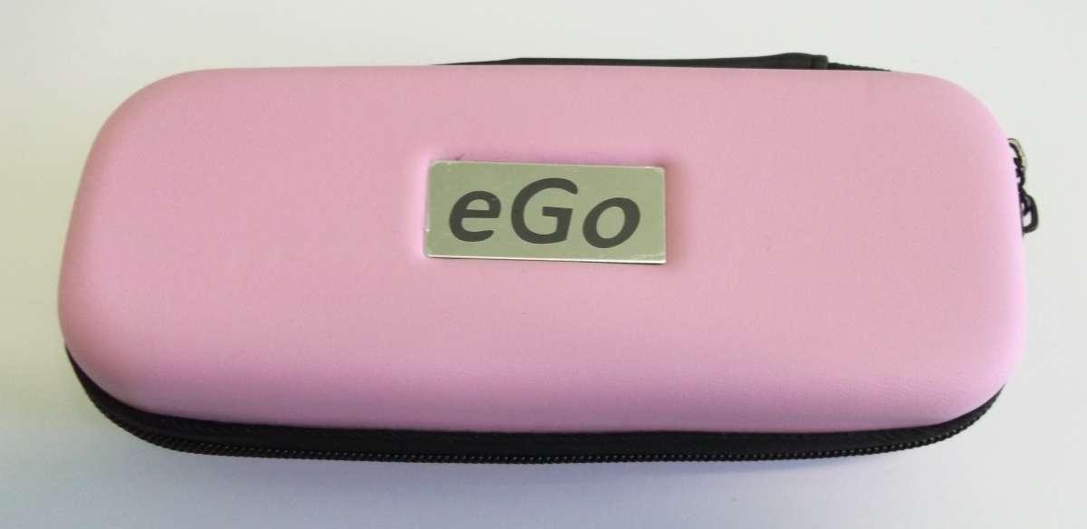 Růžové cestovní plastové střední pouzdro eGo k elektronické cigaretě