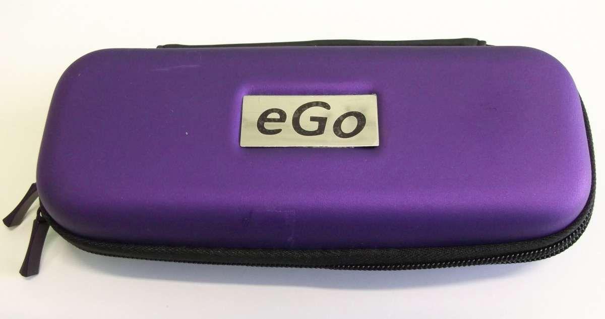 Fialové - purpurové cestovní střední pouzdro eGo k elektronické cigaretě